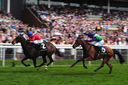 Hooray ridden by Seb Sanders beats Margot Did ridden by Hayley Turner to the post to win The Jaguar Cars Lowther Stakes during the Yorkshire Ebor Festival at York Races on August 19, 2010 in York, England.