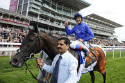 Frankie Dettori and Blue Bunting Photos Photo