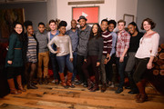 (L-R) Naomi Ko, Ashley Blaine Featherson, Brandon Bell, Justin Dobies, Teyonah Parris, Malcolm Barrett, Justin Simien, Tessa Thompson, Tyler James Williams, Courtney Sauls, Kyle Gallner, Nia Jervier, Kate Gaulke attend the YouTube 'Dear White People' Reception  on January 20, 2014 in Park City, Utah.