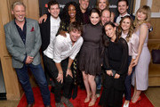 """(Top l-R) Callum Keith Rennie, Daniel Maslany, Enuka Okuma, Missi Pyle, Craig Arnold, Maddie Hasson, (Bottom L-R) Tanner Stine, Sarah Desjardins, Matt Gordon, Genevieve Kang and Lauren LeFranc as YouTube Originals hosts a special screening of """"Impulse"""" Season 2 from the director of The Bourne Identity on October 15, 2019 in West Hollywood, California."""