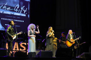 """Jimi Westbrook, Kimberly Schlapman, Karen Fairchild, and Phillip Sweet of Little Big Town perform onstage during CASH FEST In Celebration Of YouTube Originals Documentary """"THE GIFT: THE JOURNEY OF JOHNNY CASH"""" at War Memorial Auditorium on November 10, 2019 in Nashville, Tennessee."""