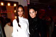 Joan Smalls and Lily Aldridge celebrate the launch of YouTube.com/Fashion on September 09, 2019 in New York City.