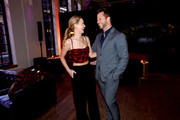 Jennifer Lawrence and Derek Blasberg celebrate the launch of YouTube.com/Fashion on September 09, 2019 in New York City.