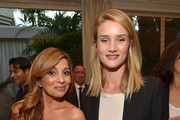 """Rosie Huntington-Whiteley and author Dr. Nigma Talib attend the """"Younger Skin Starts In The Gut"""" book launch party at Four Seasons Hotel Los Angeles at Beverly Hills on March 22, 2016 in Los Angeles, California."""