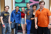 """(L-R) Kieran Culkin, Rostam Batmanglij, Tavi Gevinson, Michael Cera, Anna D. Shapiro and Kenneth Lonergan attend the """"This Is Our Youth"""" Cast Photo Call at Cort Theatre on August 14, 2014 in New York City."""