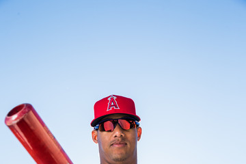 Yunel Escobar Los Angeles Angels of Anaheim Photo Day