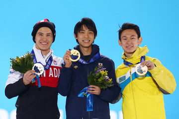 Yuzuru Hanyu Medal Ceremony - Winter Olympics Day 8