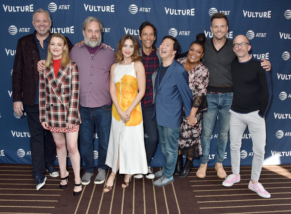 Vulture Festival Los Angeles 2019 - Day 2 [event,youth,fashion,premiere,performance,leisure,talent show,team,tourism,fashion design,chris mckenna,gillian jacobs,yvette nicole brown,ken jeong,danny pudi,dan harmon,l-r,los angeles,hollywood roosevelt hotel,vulture festival]
