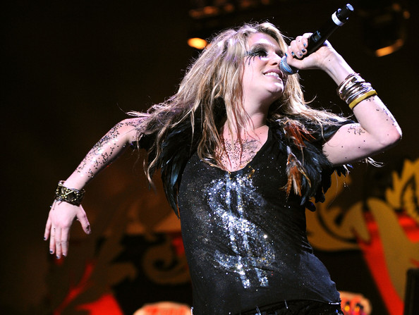 Kesha in Z100's Jingle Ball 2009 - Show. Ke$ha performs onstage during