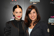 Jessie J (L) and iHeart Media Z100 Program Director Sharon Dastur attend Z100Â's Jingle Ball 2014 Official Kick Off Event, presented by Goldfish Puffs, on October 9, 2014 in New York City at MacyÂ's Herald Square.