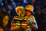 Musicians Gwen Stefani and Pharrell Williams perform onstage during iHeartRadio Jingle Ball 2014, hosted by Z100 New York and presented by Goldfish Puffs at Madison Square Garden on December 12, 2014 in New York City.