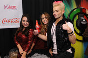 Frankie Grande (R) attends the Z100's Artist Gift Lounge presented by Goldfish Puffs at Z100's Jingle Ball 2014 at Madison Square Garden on December 12, 2014 in New York City.
