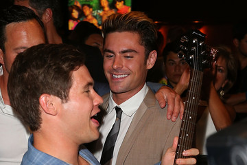 Zac Efron Adam DeVine FIJI Water at 'Mike and Dave Need Wedding Dates' Red Carpet Screening
