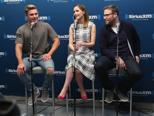 SiriusXM's 'Town Hall' With The Cast Of 'Neighbors 2' [the cast of neighbors 2,event,performance,music artist,talent show,musician,stage,interview,news conference,spokesperson,cast,actors,seth rogen,zac efron,rose byrne,town hall,new york new york,siriusxm,siriusxm studios]