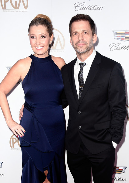 29th Annual Producers Guild Awards - Arrivals [suit,hairstyle,formal wear,fashion,event,little black dress,dress,tuxedo,white-collar worker,premiere,arrivals,deborah snyder,zack snyder,beverly hills,california,the beverly hilton hotel,l,annual producers guild awards]