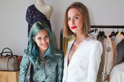 Fashion bloggers Tallulah Willis and Mallory Llewellyn attend the Zadig & Voltaire Malibu store opening on May 31, 2014 in Malibu, California.