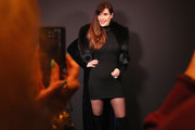 Carol Alt poses backstage for Zang Toi fashion show during New York Fashion Week: The Shows at Gallery II at Spring Studios on February 13, 2019 in New York City.