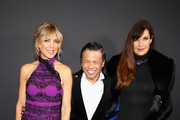 (L-R) Marla Maples, Zang Toi and Carol Alt pose backstage for Zang Toi fashion show during New York Fashion Week: The Shows at Gallery II at Spring Studios on February 13, 2019 in New York City.