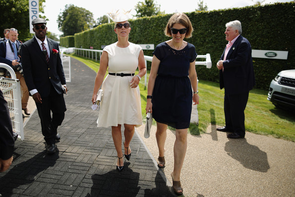 Zara Phillips Zara Philips arrives for Ladies Day at Goodwood Races on July 31, 2014 in Chichester, England. Today is Ladies Day at the prestigious Goodwood Races.
