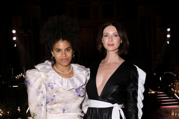 Zazie Beetz Lindt Chocolate At The Rodarte Fall/Winter 2020 Fashion Show