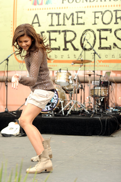Zendaya Coleman Actress Zendaya Coleman dances onstage during the 22nd Annual Time for Heroes Celebrity Picnic sponsored by Disney to benefit the Elizabeth Glaser Pediatric AIDS Foundation at Wadsworth Theater on the Veteran Administration Lawn on June 12, 2011 in Los Angeles, California.
