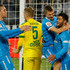 Karlen Mkrtchyan Photos - Oleg Shatov (2nd R) celebrates his goal with Hulk (R) and Artem Dzyuba (L) of FC Zenit St. Petersburg during the Russian Football League match between FC Zenit St. Petersburg and FC Anzhi Makhachkala at the Petrovsky stadium on October 24, 2015 in St. Petersburg, Russia. - Zenit St Petersburg v FC Anzhi Makhachkala - Russian Premier League