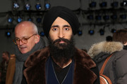 Waris Ahluwalia attends the Zero + Maria Cornejo fashion show during New York Fashion Week at Pier 59 on February 13, 2017 in New York City.