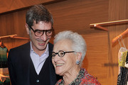 """(L-R)  Marco Maccapani and Rosita Missoni attend """"ZigZagging"""" Angela Missoni and Patricia Urquiola New Concept as part of 2013 Milan Design Week on April 10, 2013 in Milan, Italy."""