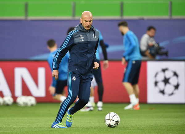 Image result for zidane in training at real madrid