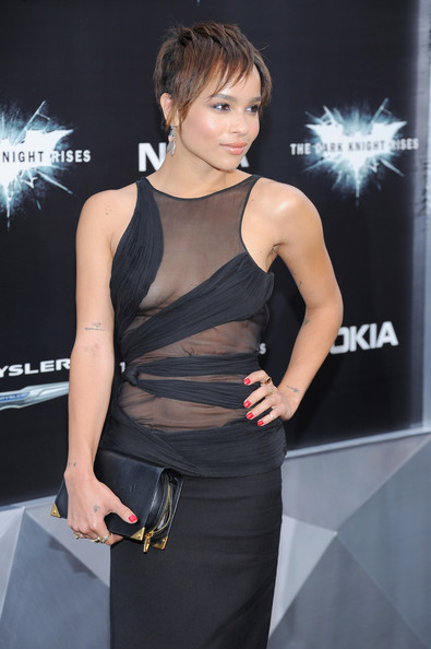 "Zoe Kravitz - ""The Dark Knight Rises"" New York Premiere - Inside Arrivals"