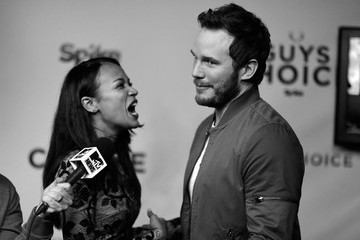 Zoe Saldana Chris Pratt Spike TV's Guys Choice 2015 - Green Room