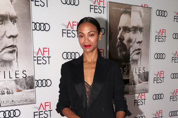Zoe Saldana AFI FEST 2017 Presented by Audi - Screening of 'Hostiles' - Red Carpet