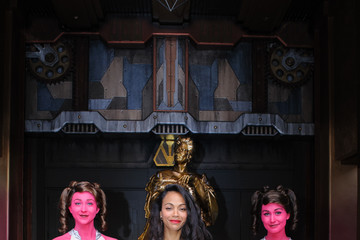 Zoe Saldana Guardians of the Galaxy - Mission: BREAKOUT! Grand Opening
