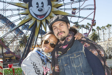 Zoe Saldana Actress Zoe Saldana Celebrates New Year's Eve at Disneyland Resort