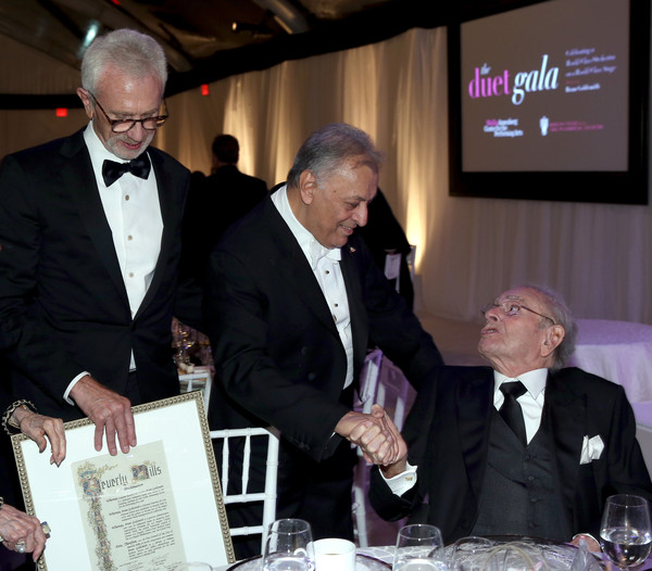 American Friends of the Israel Philharmonic Orchestra Duet Gala at the Wallis Annenberg Center for the Performing Arts [event,award,suit,white-collar worker,zubin mehta,bram goldsmith,bruce goldsmith,honoree,l-r,wallis annenberg center for the performing arts,beverly hills,california,american friends,israel philharmonic orchestra duet gala]