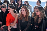 (L-R) Jessica Hart, Sofia Resing, Brittnay Snow and Jamie Chung attend the alice McCALL fashion show during New York Fashion Week: The Shows at Industria Studios on February 10, 2018 in New York City.