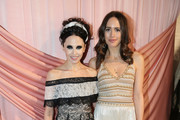 Designer Stacey Bendet (L) and Louise Roe attend the alice + olivia by Stacey Bendet Fall 2017 Presentation at Highline Stages on February 14, 2017 in New York City.
