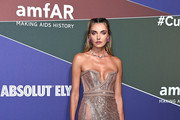 Alina Baikova attends the amfAR Gala Milano 2019 at Palazzo Mezzanotte on September 21, 2019 in Milan, Italy.