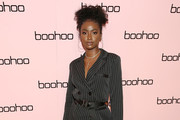 Justine Skye attends the boohoo NYFW celebration at the boohoo Mansion on September 11, 2019 in New York City.