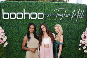 (L-R) Jasmine Tookes, Taylor Hill and Stella Maxwell attend boohoo x Taylor Hill Tea Party at The Beverly Hills Hotel on October 13, 2019 in Beverly Hills, California.