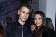 Tommy Dorfman and Andi Dorfman attend the e1972 front row during New York Fashion Week on February 08, 2020 in New York City.