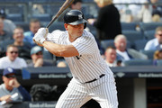 Matt Holliday #17 of the New York Yankees bats during an MLB baseball game against the Tampa Bay Rays on April 12, 2017 at Yankee Stadium in the Bronx borough of New York City. Yankees won 8-4.