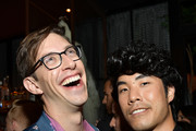 (L-R) DeStorm Power and Eugene Lee Yang go90 + Streamys After Party at Poppy on September 26, 2017 in Los Angeles, California.