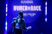 Karen O performs on stage during iHeartRadio Women Who Rock presented by the Amazon Original Series HANNA in celebration of International Women's Day at the iHeartRadio Theater LA on March 8, 2019 in Burbank, CA.
