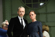 Stella McCartney (R) and Alasdhair Willis pose prior the Karl Lagerfeld Homage at Grand Palais on June 20, 2019 in Paris, France.