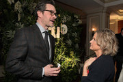 Tom Everett Scott (L) and Amy Sedaris attend the truTV Happy Hour at The Langham Huntington Hotel and Spa on February 11, 2019 in Pasadena, California. 510191