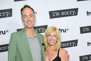 """Actors Seth Morris (L) and Morgan Walsh at the premiere screening of truTV's new scripted comedy """"I'm Sorry"""" at the SilverScreen Theater at the Pacific Design Center on June 13, 2017 in Los Angeles, California. 27060_001"""