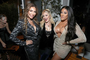 "Farrah Abraham, Heidi Montag and Natalie Nunn attend WE tv Celebrates The 100th Episode Of The ""Marriage Boot Camp"" Reality Stars Franchise And The Premiere Of ""Marriage Boot Camp Family Edition"" at SkyBar at the Mondrian Los Angeles on October 10, 2019 in West Hollywood, California."
