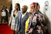 (L-R) Shaniah Mauldin, Jermaine Dupri, Tina Mauldin and Da Brat attend WE tv 'Power, Influence & Hip Hop: The Remarkable Rise Of So So Def' celebration and Season 3 of 'Growing Up Hip Hop Atlanta' at The London West Hollywood on July 16, 2019 in West Hollywood, California.