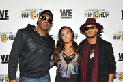 Master P, Cymphonique Miller and  Romeo Miller attend as WE tv Celebrates The Premiere Of New Series Growing Up Hip Hop on December 10, 2015 in New York City.